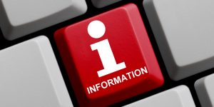 Rote Tastatur Taste mit Info Symbol zeigt Information (Foto: © kebox - Fotolia.com)